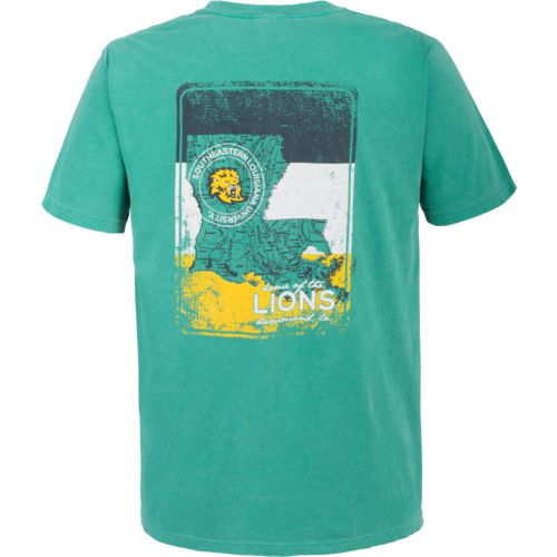 Image One Men's Southeastern Louisiana University State Map T-shirt