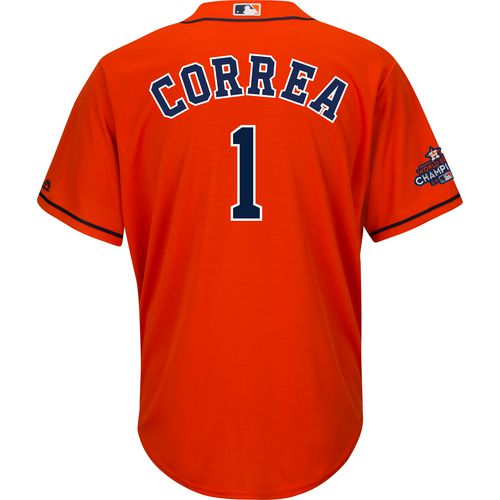 Majestic Men's Houston Astros Correa World Series 2017 Champions Team Logo Jersey