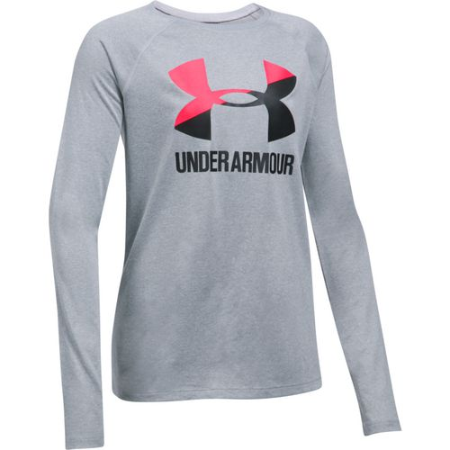 Under Armour Girls' Big Logo Slash Long Sleeve Shirt