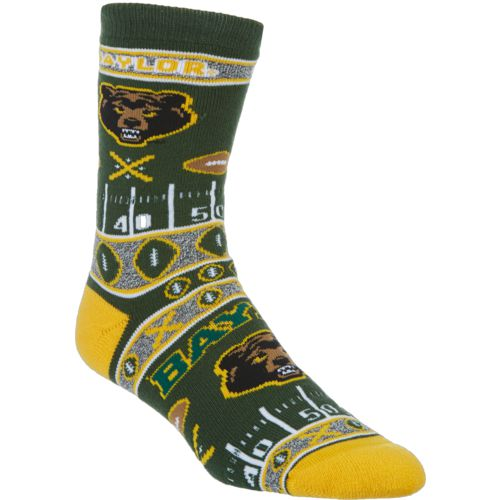 For Bare Feet Men's Baylor University Super Fan Crew Socks