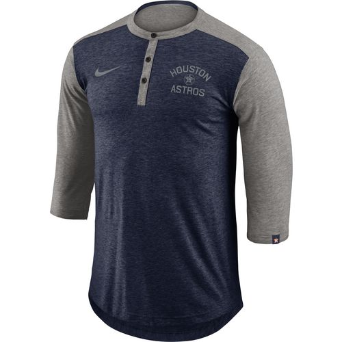 Nike Men's Houston Astros Dry Flux Henley