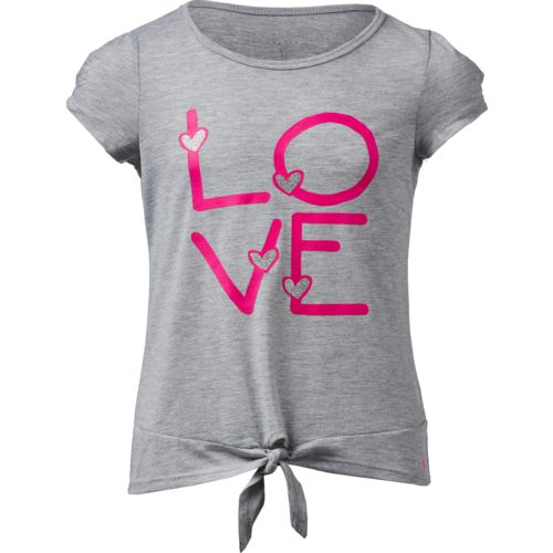 Layer 8 Girls' Love Tie Front Graphic T-shirt