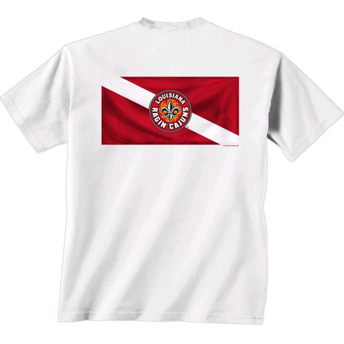 New World Graphics Men's University of Louisiana at Lafayette Diver Down T-shirt