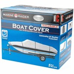 Marine Raider Platinum Series Model C Boat Cover For 16' - 18.5' Fish And Ski Pro-Style Bass Boats - view number 1