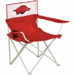 Logo Chair INC Arkansas Razorbacks Canvas Tailgate Chair