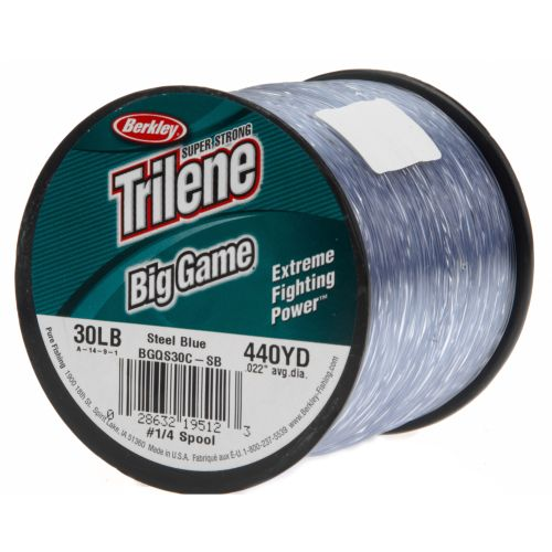 Berkley trilene big game 30 lb 440 yards monofilament for 30 lb fishing line