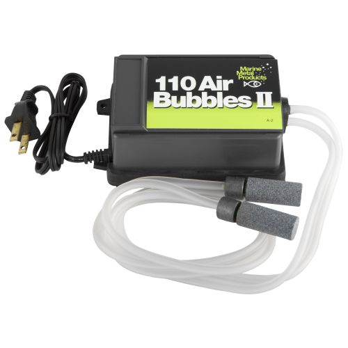 Display product reviews for Marine Metal Products Air Bubbles II 110V Air Pump