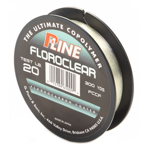P line floroclear 20 lb 300 yards fluorocarbon fishing for 20 lb fishing line