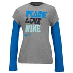 Nike Girls' Peace Love 2-in-1 T-shirt