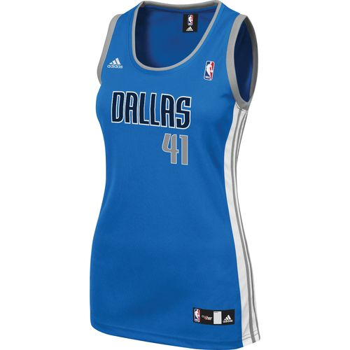 adidas Women's Dirk Nowitzki Dallas Mavericks Road Jersey
