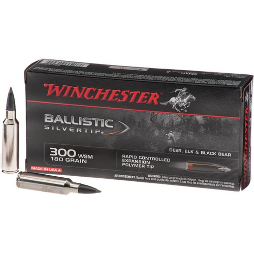 Winchester .300 WSM 180-Grain Ballistic Silvertip Rifle Ammunition - view number 1