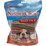 Nature's Choice Rawhide Munchy Stick Dog Treats 150-Pack
