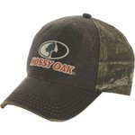 Mossy Oak Men's Half Camo Cap