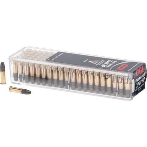 CCI® .22 LR 40-Grain Subsonic Lead Hollow-Point Rimfire Ammunition