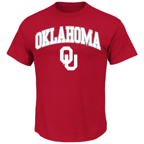 Majestic Men's University of Oklahoma Section 101 Arch Mascot T-shirt
