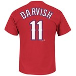 Majestic Men's Texas Rangers Yu Darvish #11 Official T-shirt