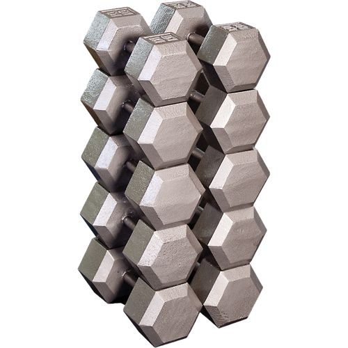 Body-Solid 55 - 75 lb. Hex Dumbbell Set