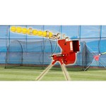 Trend Sports Heater Combo Pitching Machine and Xtender 24' Home Batting Cage