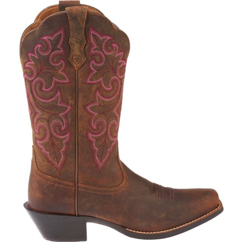 Display product reviews for Ariat Women's Round Up Square-Toe Cowboy Boots