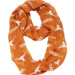 NCAA Women's University of Texas MascotWear Infinity Logo Print Scarf