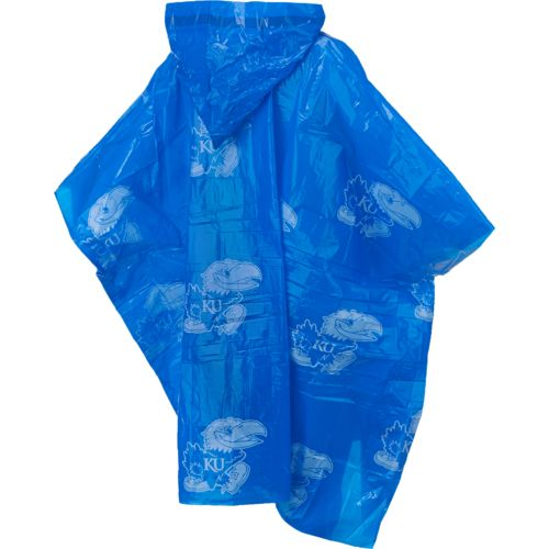 Storm Duds Adults' University of Kansas Lightweight Hooded Stadium Poncho - view number 2