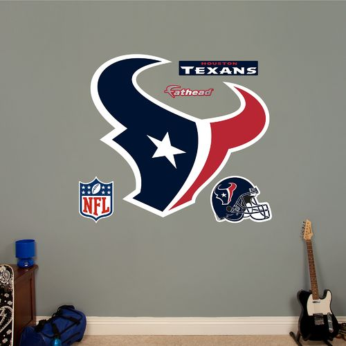 Fathead Houston Texans Logo and Team Decals 5-Pack