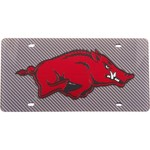 Stockdale University of Arkansas Carbon Fiber License Plate