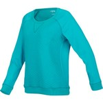 BCG™ Women's Lifestyle Quilted Long Sleeve Crew Sweatshirt