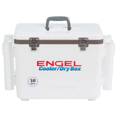 Engel 30 qt Cooler/Dry Box with Rod Holders