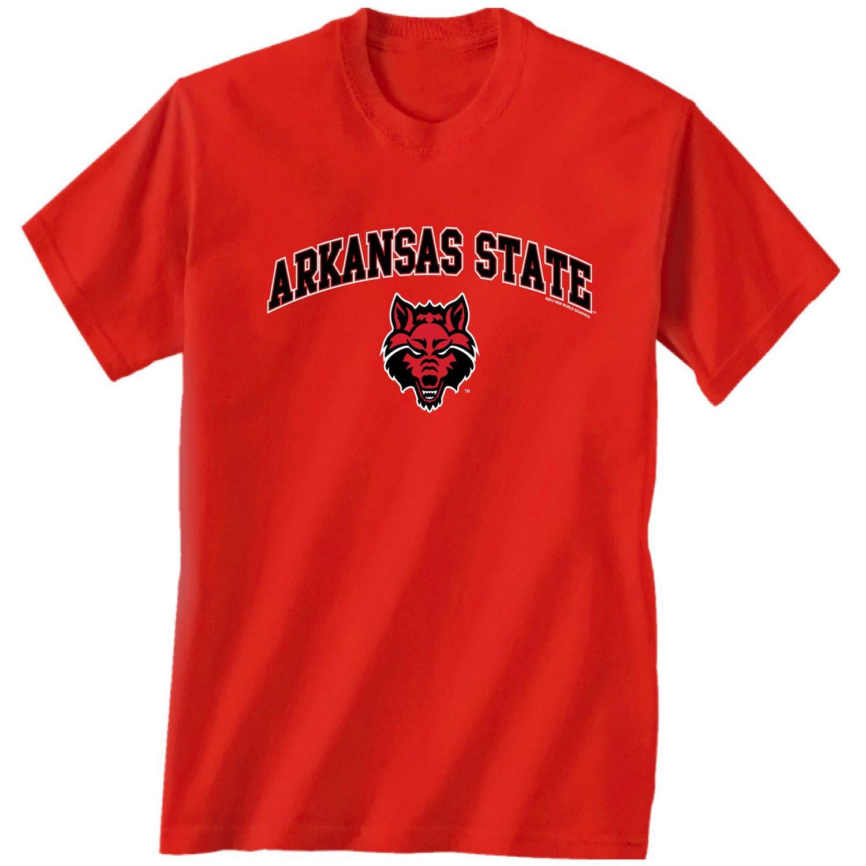 New World Graphics Men's Arkansas State University Arch Mascot T-shirt
