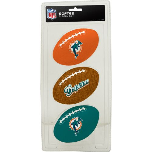 Rawlings Miami Dolphins 3rd Down Softee 3-Ball Football Set