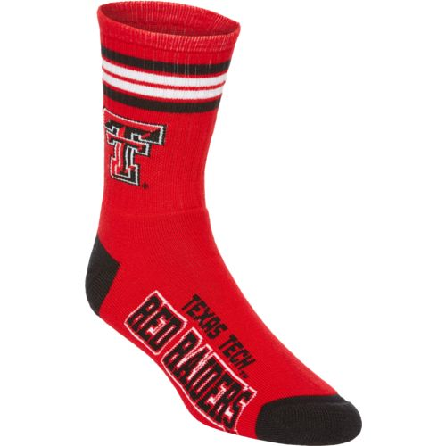 For Bare Feet Adults' Texas Tech University 4-Stripe Deuce Socks