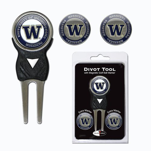 Team Golf University of Washington Divot Tool and Ball Marker Set - view number 1