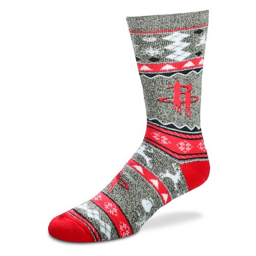 For Bare Feet Adults' Houston Rockets Ugly Sweater Xmas Socks