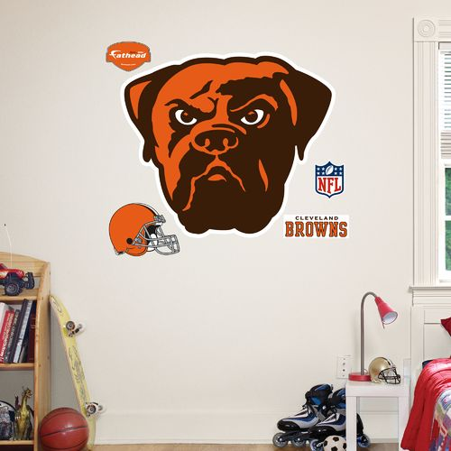 Fathead Cleveland Browns Real Big Team Logo Decal