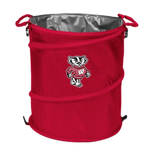 Logo™ University of Wisconsin Collapsible 3-in-1 Cooler/Hamper/Wastebasket