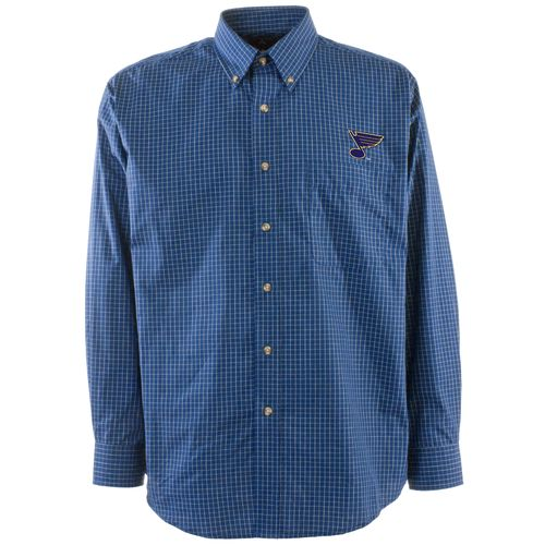 Antigua Men's St. Louis Blues Esteem Button Down Shirt