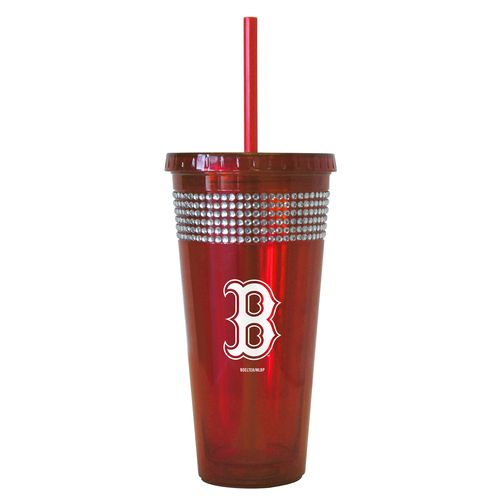 Boelter Brands Boston Red Sox 22 oz. Bling Straw Tumblers 2-Pack