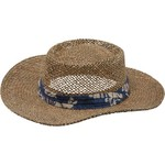 O'Rageous® Men's Seagrass Gambler Hat with Palm Print Band