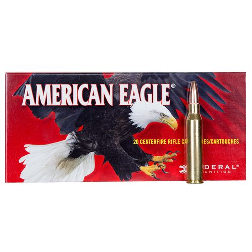 Federal Premium American Eagle .338 Lapua Magnum 250-Grain Centerfire Rifle Ammunition