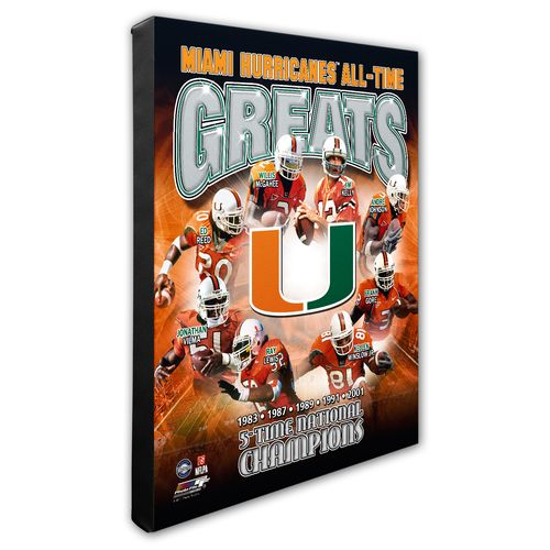 Photo File University of Miami All-Time Greats Stretched Canvas Photo