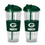 Boelter Brands Green Bay Packers 22 oz. No-Spill Straw Tumblers 2-Pack