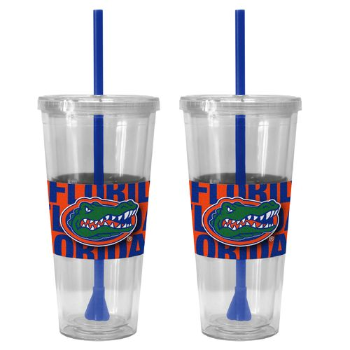 Boelter Brands University of Florida Bold Neo Sleeve 22 oz. Straw Tumblers 2-Pack