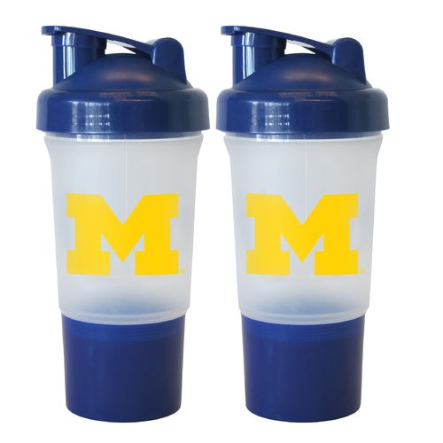 Boelter Brands University of Michigan 16 oz. Protein Shakers 2-Pack