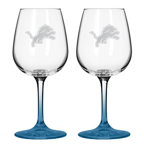 Boelter Brands Detroit Lions 12 oz. Wine Glasses 2-Pack