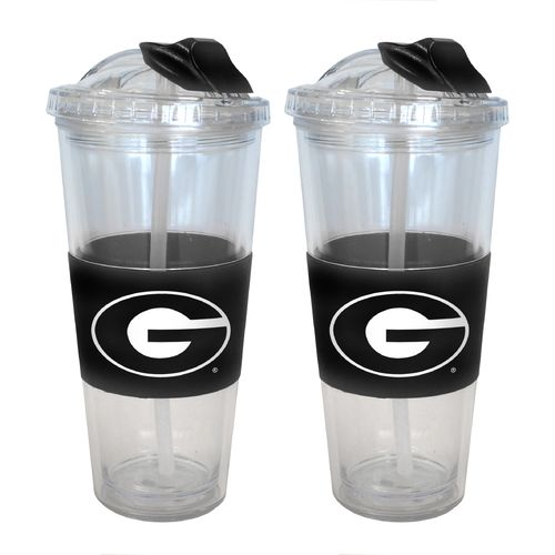 Boelter Brands University of Georgia 22 oz. No-Spill Straw Tumblers 2-Pack