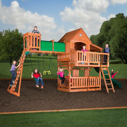 Backyard Discovery™ Woodridge II Wooden Swing Set