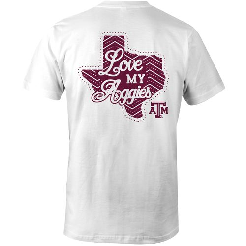 Image One Girls' Texas A&M University Cheer Loud T-shirt