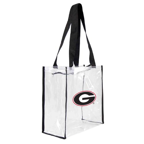 Little Earth Productions University of Georgia Clear Square Stadium Tote Bag