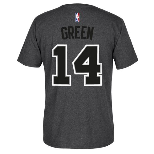 adidas™ Men's San Antonio Spurs Danny Green #14 Game Time High Density T-shirt